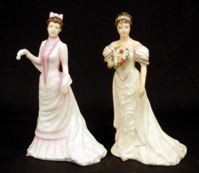 "Two Royal Doulton Figurines ""Wedding Morn"" HN 3853,"