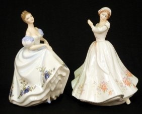 "Two Royal Doulton Figurines ""Rosemary"" HN 3143, 7 1"