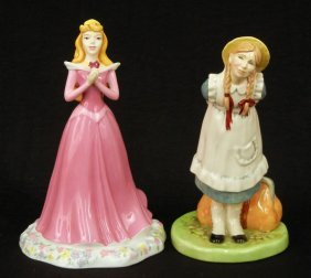 "Two Royal Doulton Figurines ""Sleeping Beauty"" Disne"