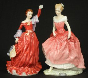 "Two Royal Doulton Figurines ""Fond Farewell"" HN 3815"