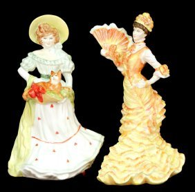 "Two Royal Doulton Figurines ""Jane"" Lady Doulton 199"