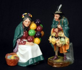 "Two Royal Doulton Figurines ""The Old Balloon Seller"