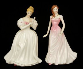 "Two Royal Doulton Figurines ""Denise"" HN 2477, 8"", C"