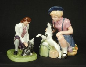 "Two Royal Doulton Figurines ""Town Veterinary"" HN 46"