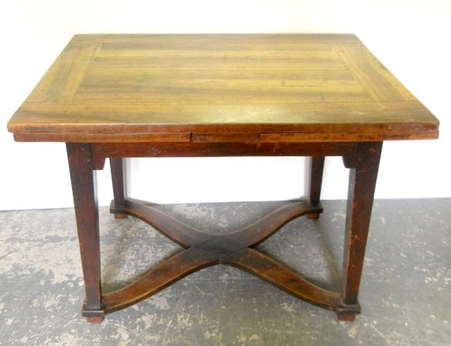 540 Mahogany Dining Table With Pull Out Leaves Square