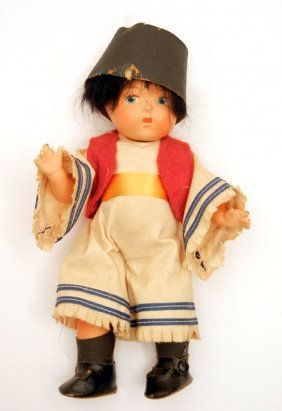 1940s Vogue Ginny Russian Boy Composition Doll, Min