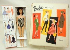 Vintage Barbie #4 In Original Swimsuit, Pierced Ear