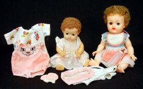 "1950s Rare Size Dy-dee By Effanbee, 11"" And A Betsy"