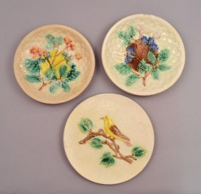 Three Majolica Plates
