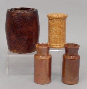 Four Stoneware Pottery Pieces