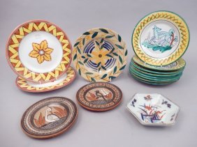 Grouping Of Hand Painted Plates