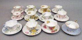 Twelve Shelley Teacup And Saucer Sets