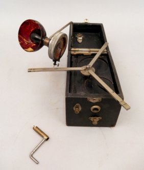Small German Portable Phonograph