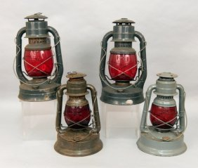 Two Dietz Little Giant Lanterns, And Two No. 2 D-lite