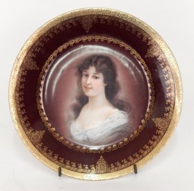 "Royal Vienna ""amicitia"" Hand Painted Portrait Plate"