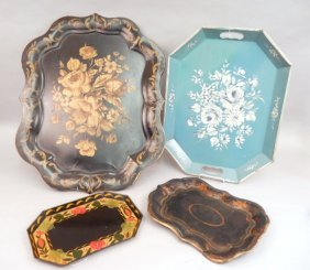 Four Tole Trays