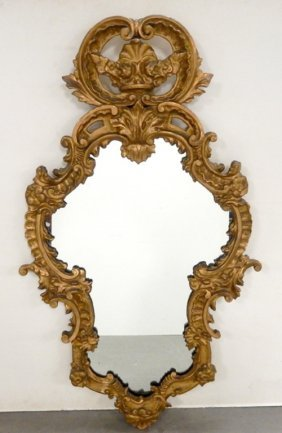 Italian Carved Wood And Gesso Mirror