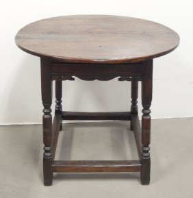Gothic Revival Oak Cricket Table