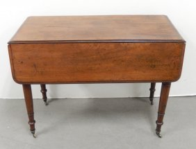 English Mahogany Drop-leaf Breakfast Table