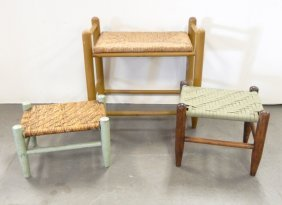 Bench And Two Footstools