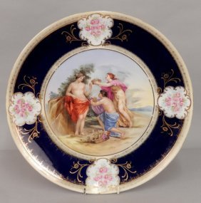 Royal Vienna Hand Painted Figural Plate