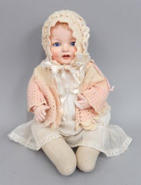 Armand Marseille Baby Gloria Composition And Cloth Doll