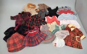 Grouping Of Vintage And Antique Doll Dresses And Coats