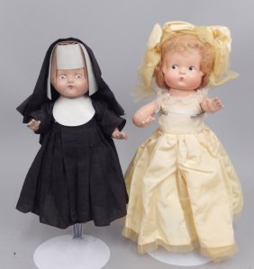 Two Composition Dolls