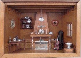 Diorama Of A Room Interior, Silver Fixtures
