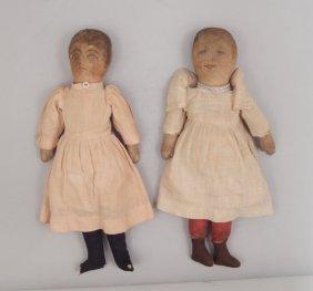 Pair Of Babyland Rag Cloth Dolls