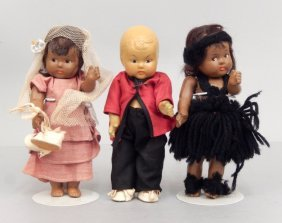 Grouping Of Composition Toodles Ginny Type Dolls