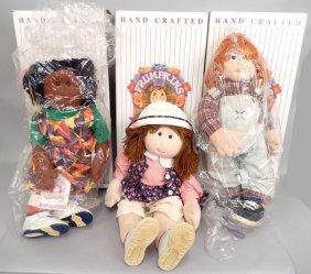 Three Frumpkins Dolls In Original Boxes