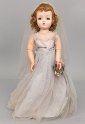 1950's Madame Alexander Cissy Face Doll, Formal Gown