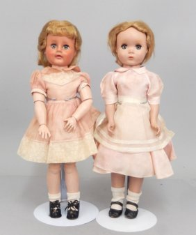Two Madame Alexander Hard Plastic Dolls