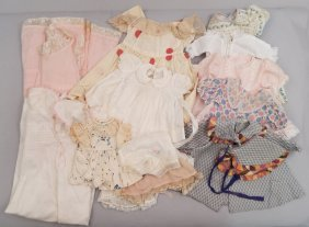Grouping Of Vintage Doll Clothes