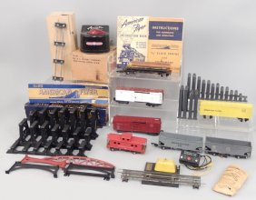American Flyer Freight Cars, Trestle Bridge, Etc.