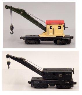 Two Lionel Lines Postwar O Gauge Crane Cars