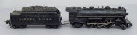Lionel Postwar O27 Gauge No. 1666 Loco And Tender