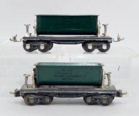 Two Prewar O Gauge No. 659 Lionel Dump Cars