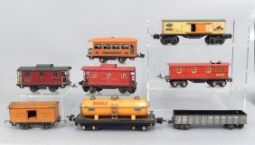 Lionel Prewar O Gauge Train Car Grouping