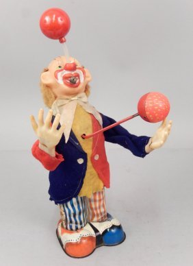 Battery Operated Pinky The Juggling Clown, Alps Japan,