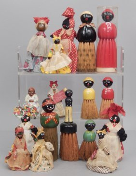 Grouping Of Half Doll Brushes And Bells