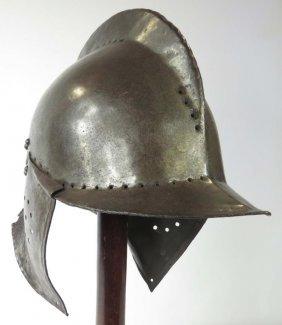 A Burgonet Helmet