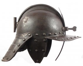 A Rare English Lobstertail Helmet