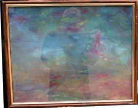 Agnes Weinrich (1873-1946)16x20 Gouache Very Colo