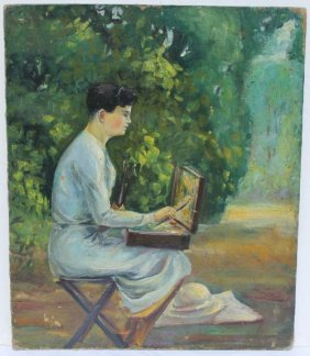 Fine Unsgnd Vintage Portrait Of Mary Cassatt 11 ��