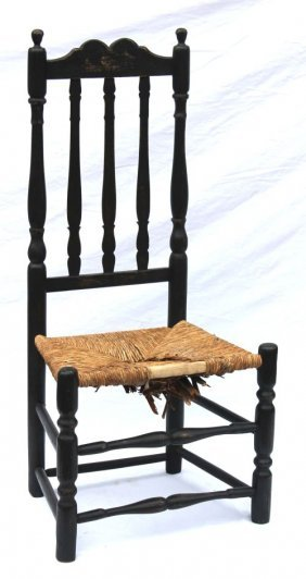Ca 1720's Worcester County Bannister Back Side Chai