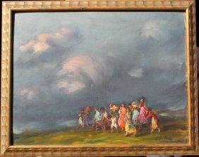 Towanda De Negy (born 1936 Provincetown) 13x17 O/b