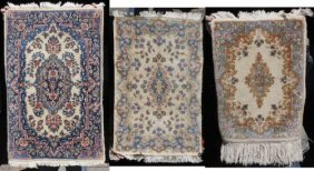 Lot Of 3 Antique & Semi-antique Persian Kirman Orie