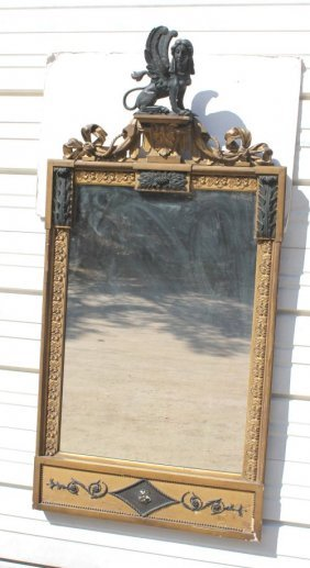 Rare Lg 56� Tall Regency Period NYC Gilt & Ebonized